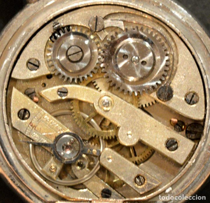 Relojes de bolsillo: ANTIGUO RELOJ DE BOLSILLO LEPINE CARGA MANUAL ESFERA DE PORCELANA - Foto 6 - 224997015
