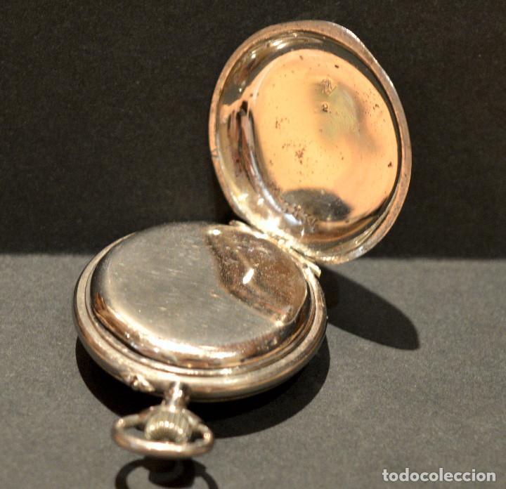 Relojes de bolsillo: ANTIGUO RELOJ DE BOLSILLO LEPINE CARGA MANUAL ESFERA DE PORCELANA - Foto 7 - 224997015