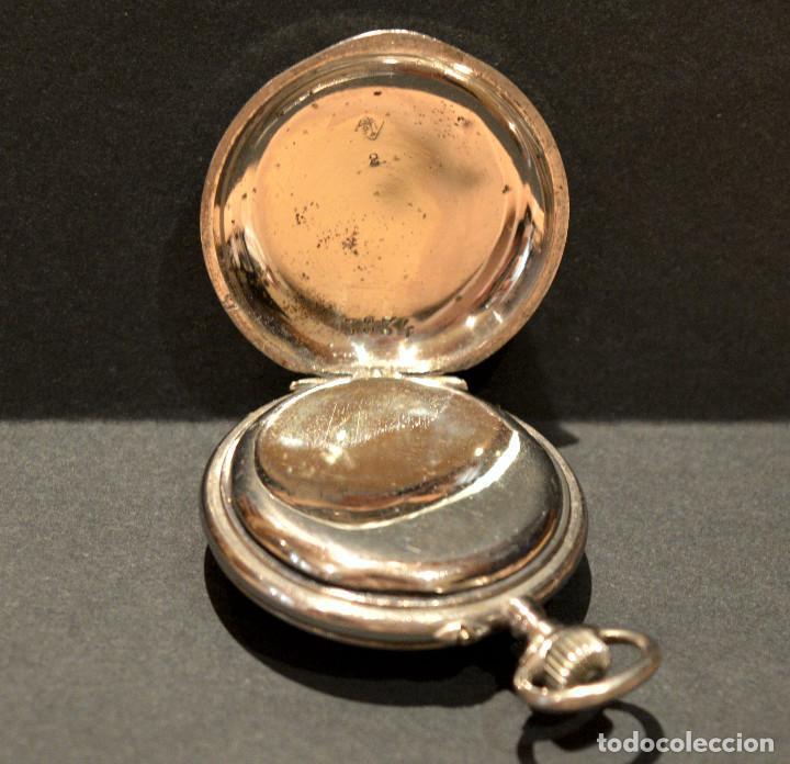 Relojes de bolsillo: ANTIGUO RELOJ DE BOLSILLO LEPINE CARGA MANUAL ESFERA DE PORCELANA - Foto 8 - 224997015