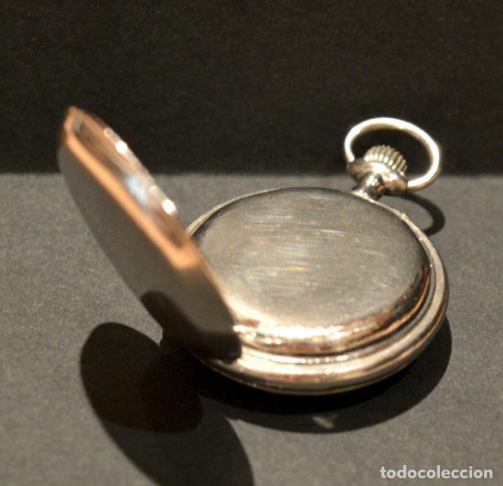 Relojes de bolsillo: ANTIGUO RELOJ DE BOLSILLO LEPINE CARGA MANUAL ESFERA DE PORCELANA - Foto 9 - 224997015