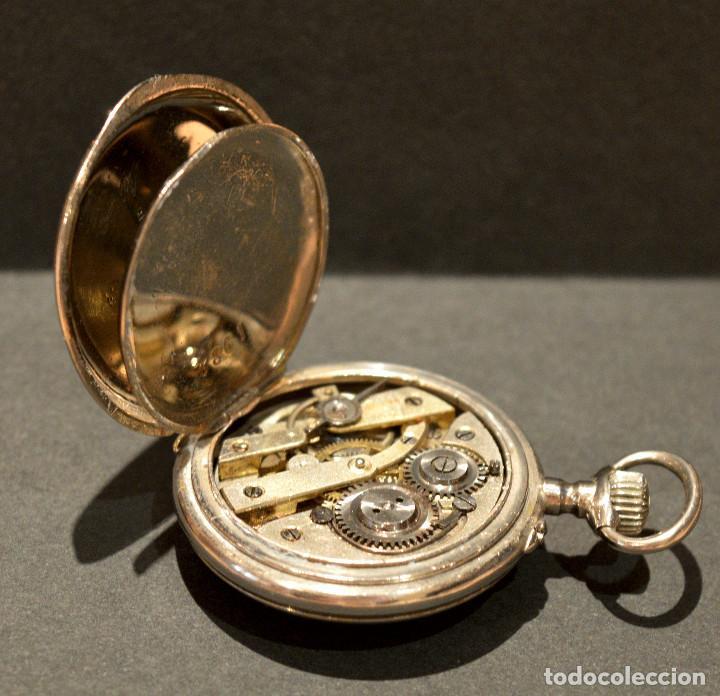 Relojes de bolsillo: ANTIGUO RELOJ DE BOLSILLO LEPINE CARGA MANUAL ESFERA DE PORCELANA - Foto 10 - 224997015