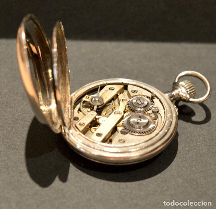 Relojes de bolsillo: ANTIGUO RELOJ DE BOLSILLO LEPINE CARGA MANUAL ESFERA DE PORCELANA - Foto 11 - 224997015