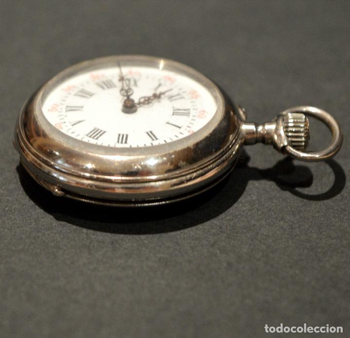 Relojes de bolsillo: ANTIGUO RELOJ DE BOLSILLO LEPINE CARGA MANUAL ESFERA DE PORCELANA - Foto 12 - 224997015