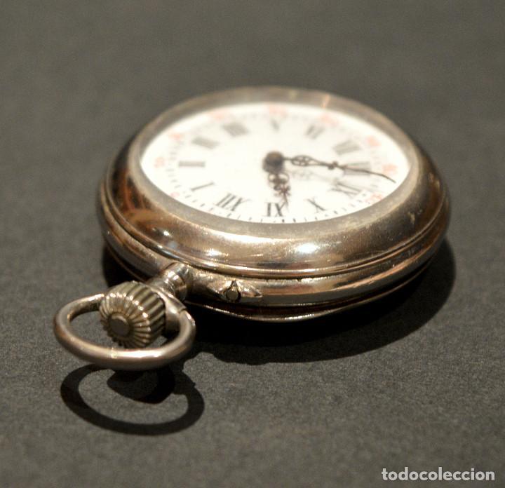 Relojes de bolsillo: ANTIGUO RELOJ DE BOLSILLO LEPINE CARGA MANUAL ESFERA DE PORCELANA - Foto 13 - 224997015