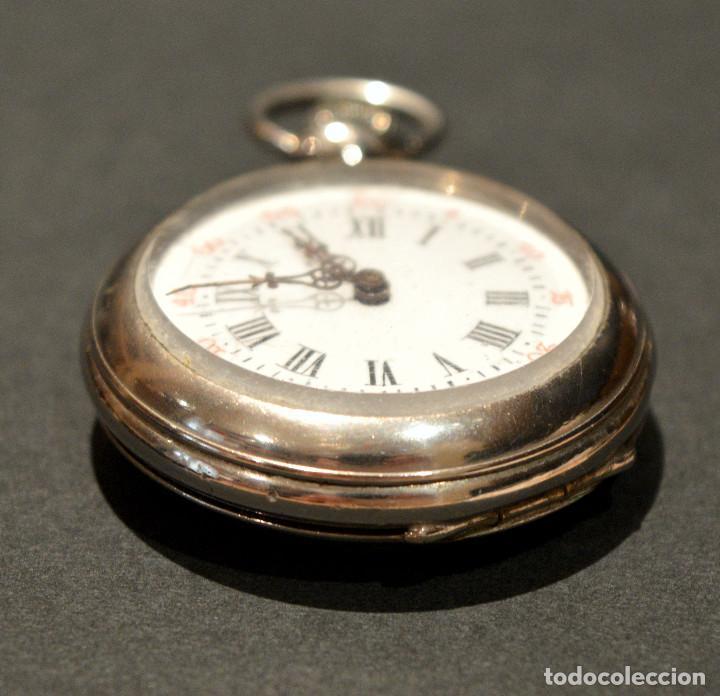 Relojes de bolsillo: ANTIGUO RELOJ DE BOLSILLO LEPINE CARGA MANUAL ESFERA DE PORCELANA - Foto 14 - 224997015