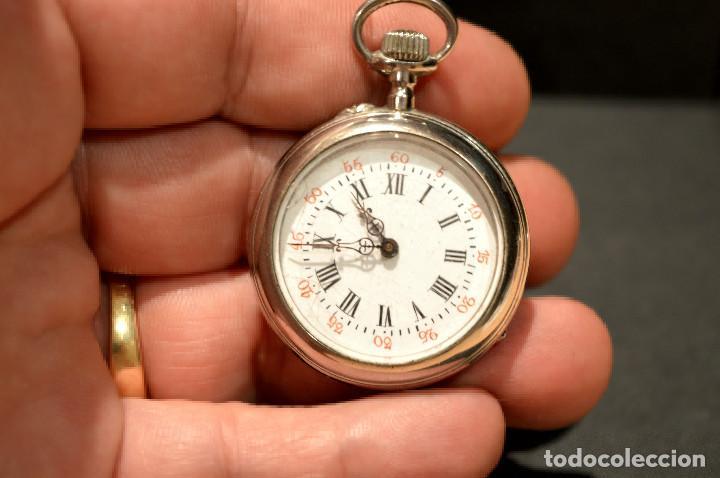 Relojes de bolsillo: ANTIGUO RELOJ DE BOLSILLO LEPINE CARGA MANUAL ESFERA DE PORCELANA - Foto 15 - 224997015
