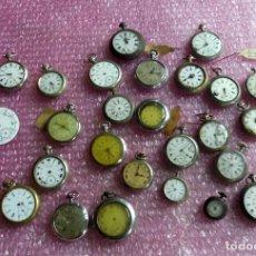 Relojes de bolsillo: ¡¡ENORME LOTE RELOJES DE BOLSILLO ANTIGUOS!!!-29 RELOJES Y 1 ESFERA PARA GOLIAT- LOTE 259. Lote 225540786