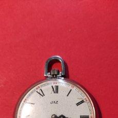 Relojes de bolsillo: RELOJ DE BOLSILLO JAZ. ESFERA DAÑADA. NO FUNCIONA.. Lote 225998600
