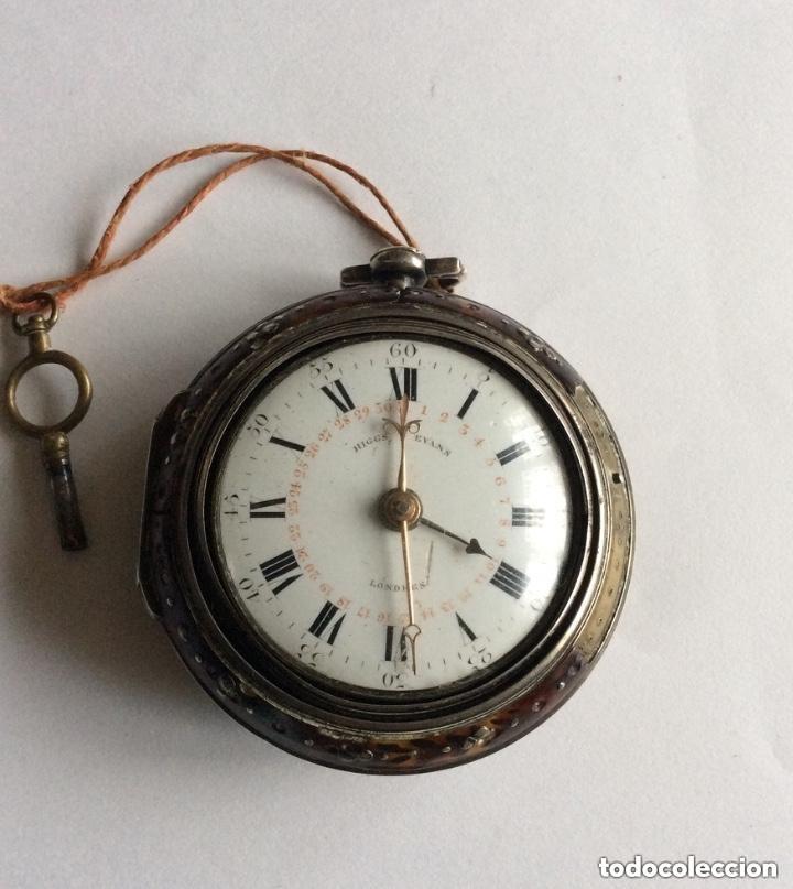 Relojes de bolsillo: HIGGS EVANS LONDON, SIGLO XVIII RELOJ DE BOLSILLO - Foto 3 - 226025345
