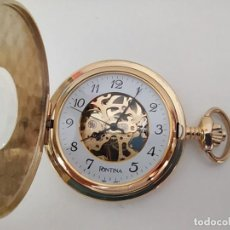 Relojes de bolsillo: RELOJ DE BOLSILLO TIPO CAZADOR DE CUERDA NUEVO. Lote 226348565