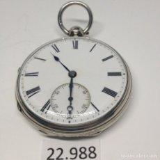Relojes de bolsillo: RELOJ DE BOLSILLO INGLES PLATA SIGLO XIX. Lote 226391155