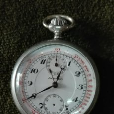 Relojes de bolsillo: RELOJ DE BOLSILLO MOVADO CRONO NO ESTA EN MARCHA CREO QUE NECESITA LIMPIEZA Y ENGRASE. Lote 226455840