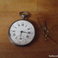 Relojes de bolsillo: ANTIGUO RELOJ BOLSILLO INGLES EN PLATA AÑO 1880 - FUNCIONA- LOTE 259-22. Lote 226596685