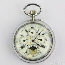 Relojes de bolsillo: RELOJ DE BOLSILLO EN FUNCIONAMIENTO, 5,5 CM DE DIÁMETRO, VER FOTOS ANEXAS.. Lote 226778480