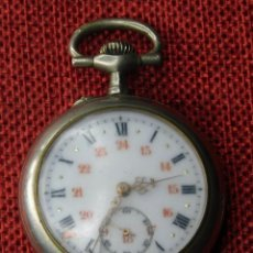 Relojes de bolsillo: ANTIGUO RELOJ DE BOLSILLO DE CABALLERO - 66 GRAMOS - PLATA 800 MILESIMAS - 45 MM. Lote 227052120