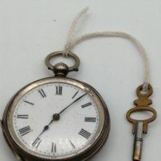 Relojes de bolsillo: ANTIGUO RELOJ DE BOLSILLO PLATA DE LEY 3 CAPAS. Lote 227261965