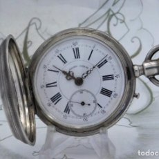 Orologi da taschino: RELOJ DE BOLSILLO-CALORY GENEVE-SABONETA-DE PLATA- 4 TAPAS-CIRCA 1890-1910-FUNCIONANDO. Lote 227763335