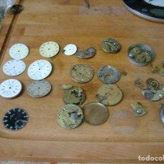 Relojes de bolsillo: GRAN LOTE DE PIEZAS, ESFERAS PORCELANA- MAQUINARIAS RELOJ BOLSILLO- LOTE 326. Lote 228112375