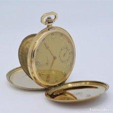 Relojes de bolsillo: LONGINES-DE ORO 14K-PRECIOSO RELOJ DE BOLSILLO-EXTRAPLANO-SABONETA-1931-FUNCIONANDO. Lote 228188715