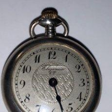 Relojes de bolsillo: ANTIGUO RELOJ DE BOLSILLO DE SEÑORA DE PLATA. ELEGANCIA PRIMERA. FUNCIONA. Lote 228305815