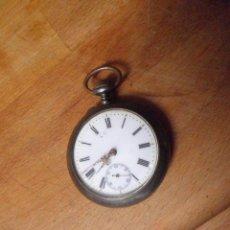 Relojes de bolsillo: PRECIOS0 RELOJ BOLSILLO EN ACERO Y ORO- AÑO 1890- FUNCIONA- LOTE 259-1. Lote 228653823