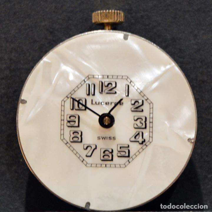 Relojes de bolsillo: RELOJ SUIZO DE BOLSILLO O COLGANTE CARGA MANUAL MARCA LUCERNE SWISS MADE - Foto 4 - 195658645