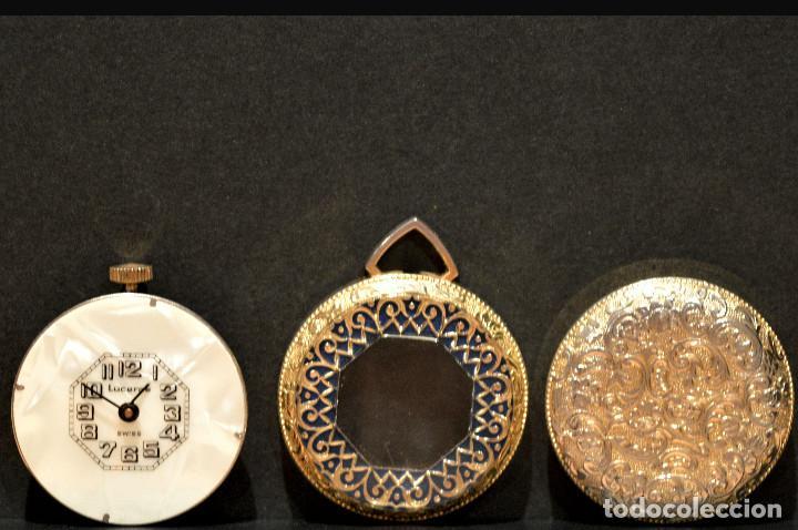 Relojes de bolsillo: RELOJ SUIZO DE BOLSILLO O COLGANTE CARGA MANUAL MARCA LUCERNE SWISS MADE - Foto 7 - 195658645