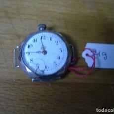 Relojes de bolsillo: ANTIGUO RELOJ DE BOLSILLO O PULSERA EN PLATA CON GRABADOS - LOTE 259-2- FUNCIONA. Lote 228933840