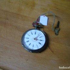 Relojes de bolsillo: PRECIOSO RELOJ DE BOLSILLO ANTIGUO EN ARGENTAN- MUY BUEN ESTADO- AÑO 1890-LOTE 259-2 FUNCIONA. Lote 229095285