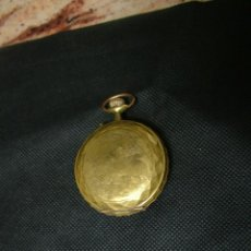 Relojes de bolsillo: ANTIGUO RELOJ SAVONETA -GRAN TAMAÑO TIPO GOLIAT-CON MOTIVOS CAZA-BAÑADO EN ORO--LOTE 259-2. Lote 229101160