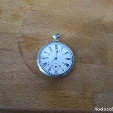 Relojes de bolsillo: ANTIGUO RELOJ DE BOLSILLO EN PLATA MACIZA CON FIGURA DE PATINADORES DETRAS- AÑO 1890- LOTE 259-3. Lote 229560095