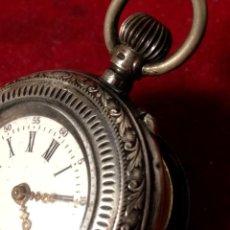 Relojes de bolsillo: RELOJ BOLSILLO AÑO 1900 PLATA LEY 800 SELLOS . BUEN EQUILIBRIO. Lote 229920505