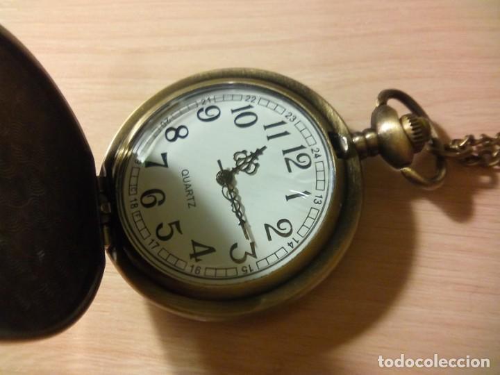 Relojes de bolsillo: RELOJ FLOR DE MOSAICO BLANCO Y NEGRO. - Foto 2 - 230038120