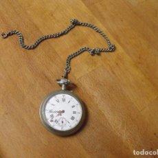 Relojes de bolsillo: ANTIGUO RELOJ DE BOLSILLO FUNCIONANDO- AÑO 1890-LOTE 259-3- CON LEONTINA Y DOBLE NUMERACION. Lote 230096055