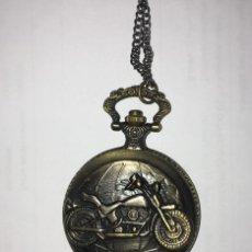 Relojes de bolsillo: RELOJ DE BOLSILLO DETALLE MOTOCICLETA. Lote 230571275