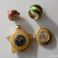 Relojes de bolsillo: LOTE DE 4 RELOJES DE COLGAR ANTIGUOS SONIA BULER MORTIMA KALTER. Lote 230598465
