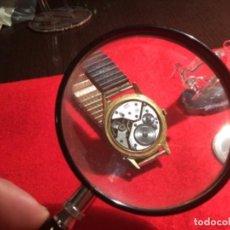Relojes de bolsillo: RELOJ CAUNY CALENDARIO PLAQUE ORO GRANDE. Lote 230954530