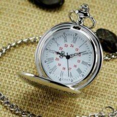 Relojes de bolsillo: RELOJ DE BOLSILLO PLATA DE LUJO SUAVE, DE COLECCIÓN, DE CUARZO, AUTOMATICO. Lote 232994123
