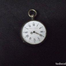 Relojes de bolsillo: ANTIGUO RELOJ BOLSILLO EN PLATA AÑO 1880 -- LOTE 259-4. Lote 233539805