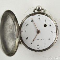 Relojes de bolsillo: DUCHENE ET FILS - RELOJ DE BOLSILLO DE PLATA EN FUNCIONAMIENTO. 5,5 CM. DIÁMETRO. Lote 234843780