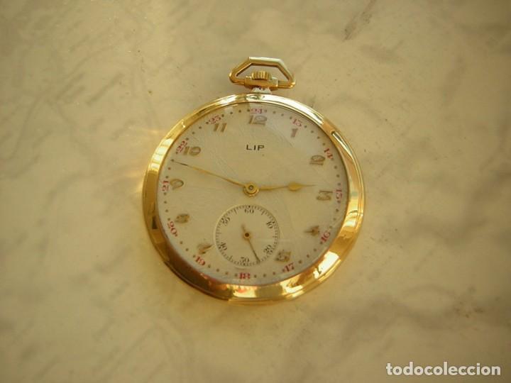 RELOJ DE BOLSILLO LIP DE ORO 18 KT (KILATES) AÑO 1905-1910 (Relojes - Bolsillo Carga Manual)