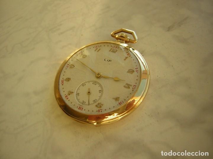 Relojes de bolsillo: RELOJ DE BOLSILLO LIP DE ORO 18 KT (KILATES) AÑO 1905-1910 - Foto 2 - 234914590