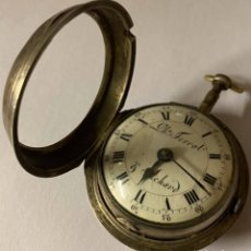 Relojes de bolsillo: RELOJ DE BOLSILLO CATALINO DE PLATA DE MEDIADOS DEL SIGLO XVIII. Lote 235710490