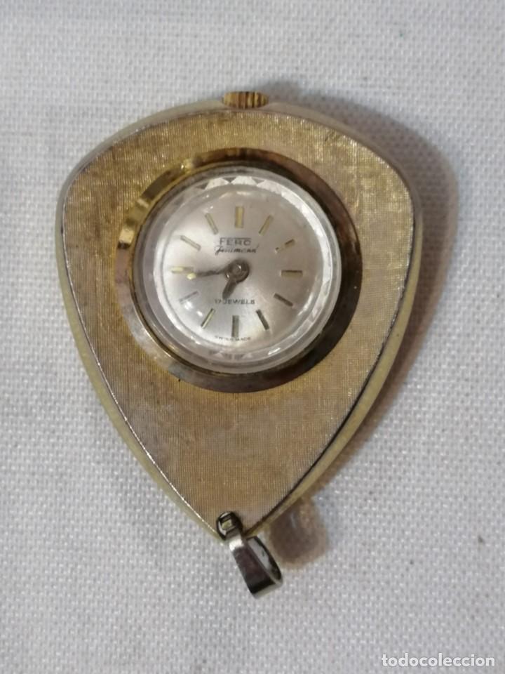 ANTIGUO RELOJ COLGANTE FERO FELDMANN.MADE SWISS. (Relojes - Bolsillo Carga Manual)