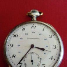 Relojes de bolsillo: RELOJ DE BOLSILLO DE PLATA CHRONOMETRE. Lote 236245050