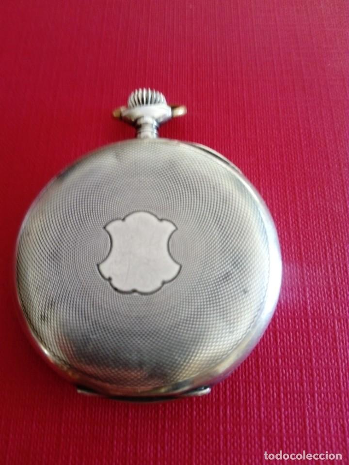 Relojes de bolsillo: Reloj de bolsillo de plata Chronometre - Foto 2 - 236245050