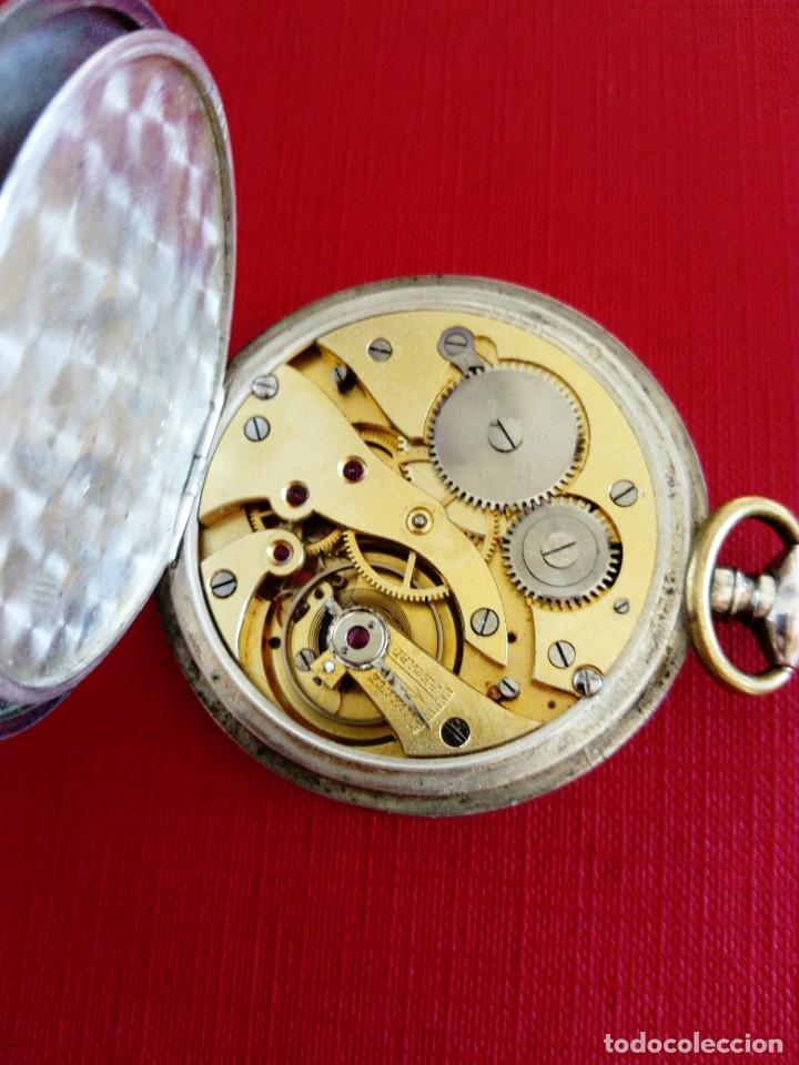 Relojes de bolsillo: Reloj de bolsillo de plata Chronometre - Foto 6 - 236245050