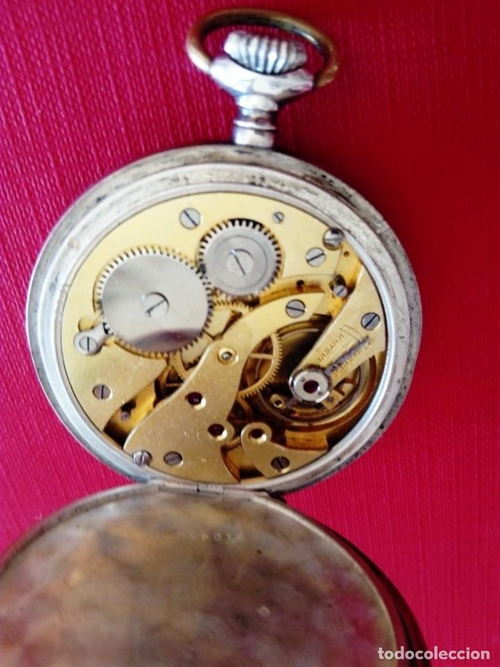 Relojes de bolsillo: Reloj de bolsillo de plata Chronometre - Foto 7 - 236245050