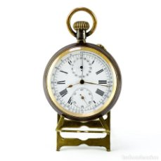 Relojes de bolsillo: THE ASCOT. RELOJ CRONÓGRAFO MONOPULSANTE DE BOLSILLO, LEPINE, REMONTOIR. SUIZA, CA. 1887. Lote 236307255