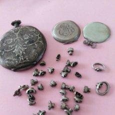Relojes de bolsillo: PIEZAS EN PLATA PARA RELOJES ANTIGUOS DE BOLSILLO- LOTE 259. Lote 237126865